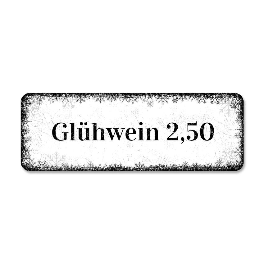 Preisschild für den Weihnachtsmarkt mit eigenem Wunschtext 100 x bei SchilderShop