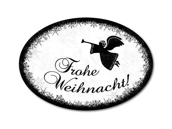 Schild Frohe Weihnachten oder mit eigenem Wunschtext bei SchilderShop
