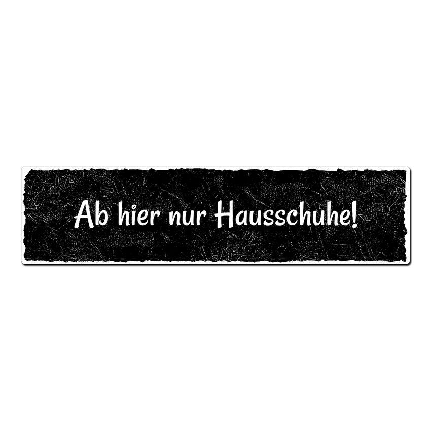 Black Vintage - Schild mit Wunschtext im Format 300 x 75mm