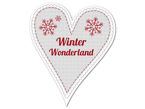 Dekoherz Hüttentraum Winter Wonderland oder mit Wunschtext - 180 bei SchilderShop