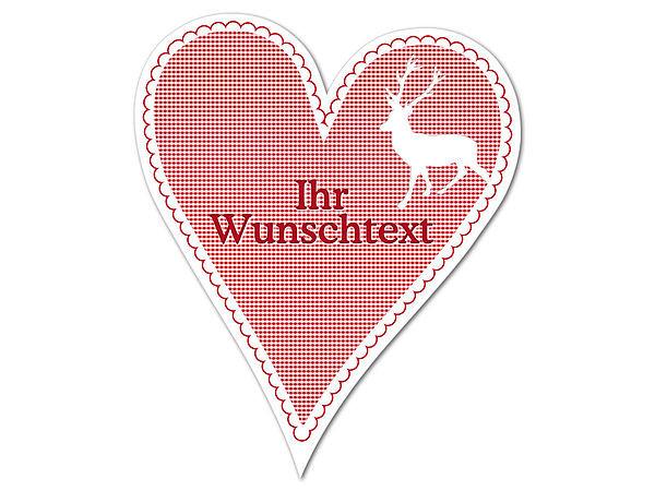 Dekoherz Hüttentraum mit Wunschtext - 180 mm Hirsch bei SchilderShop