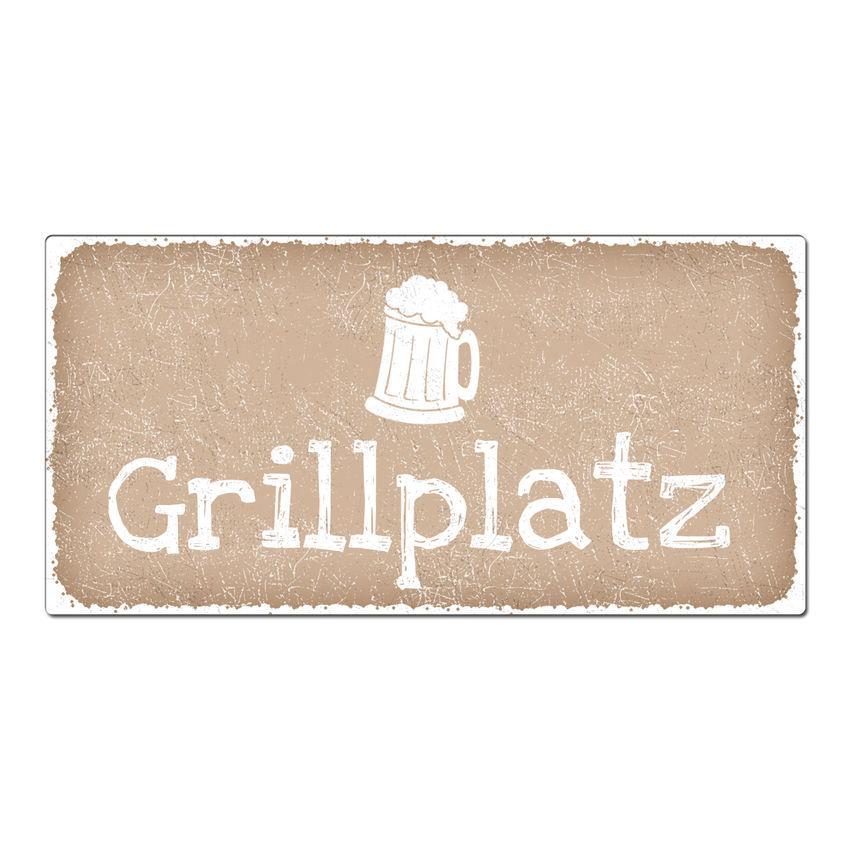 Vintage Schild Mit Wunschtext 300 X 150 Mm Cappuccino   Hausnummern Und  Schilder Online Kaufen