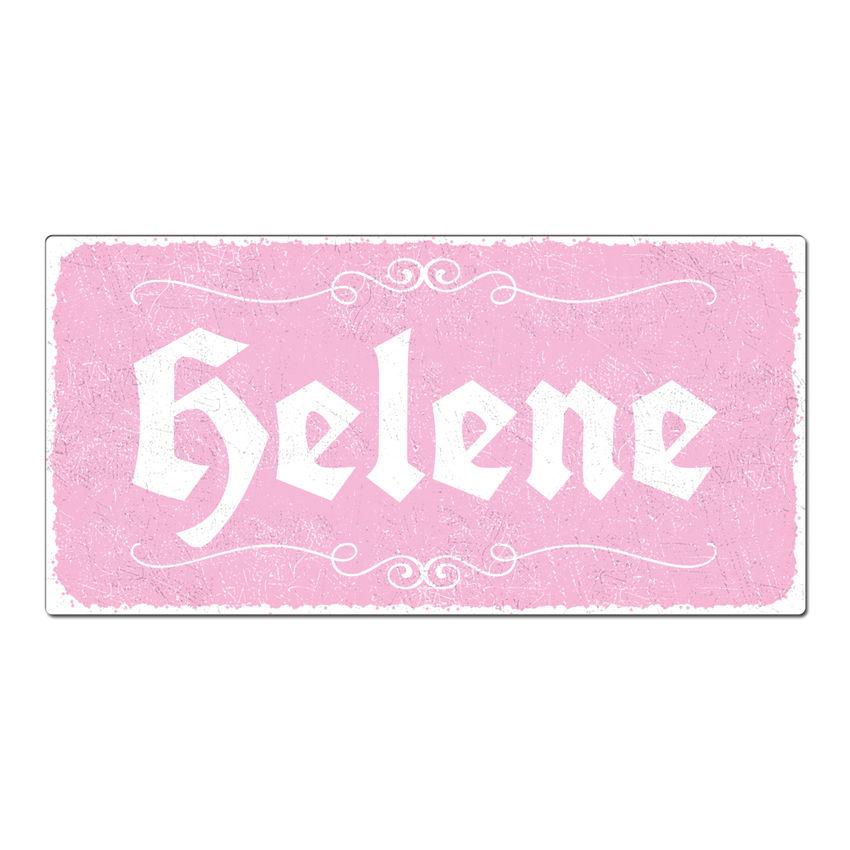 Vintage Schild mit Wunschtext 300 x 150 mm rosa