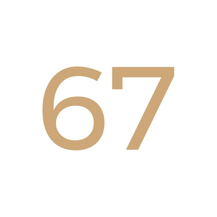 Kleine Hausnummer zum Aufkleben - zweistellig - 15 cm