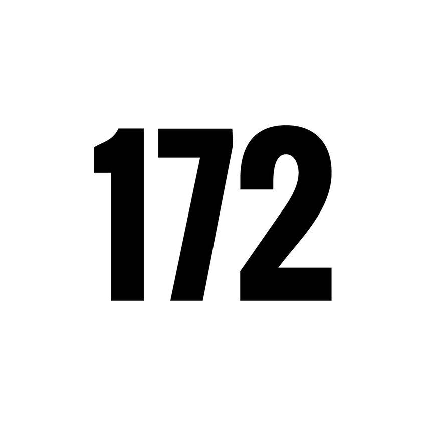 Kleine Hausnummer zum Aufkleben - dreistellig - 15 cm