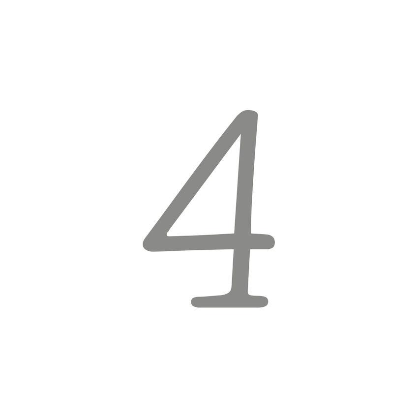 Selbstklebende Hausnummern - 20 cm - einstellig