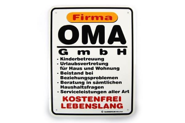 Funschild - Oma GmbH