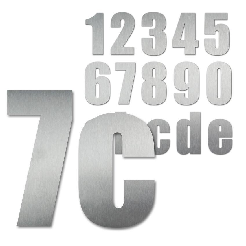 Hausnummern aus Edelstahl Schrift Impact 300 mm