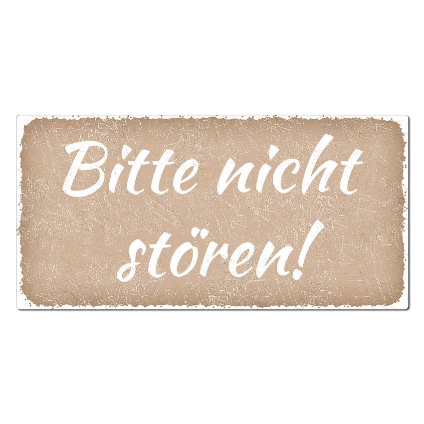 Bitte nicht stören! - Vintage Schild 200 x 100 mm cappuccino ...