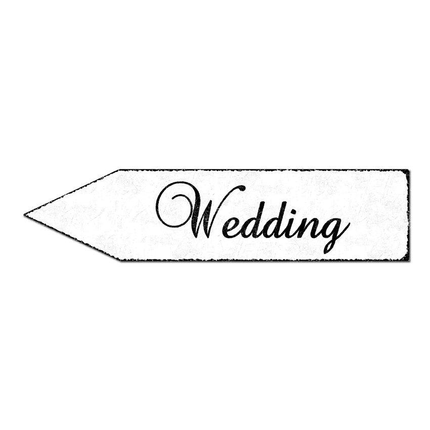 Hinweispfeil Hochzeit - 41,5 x 10 cm