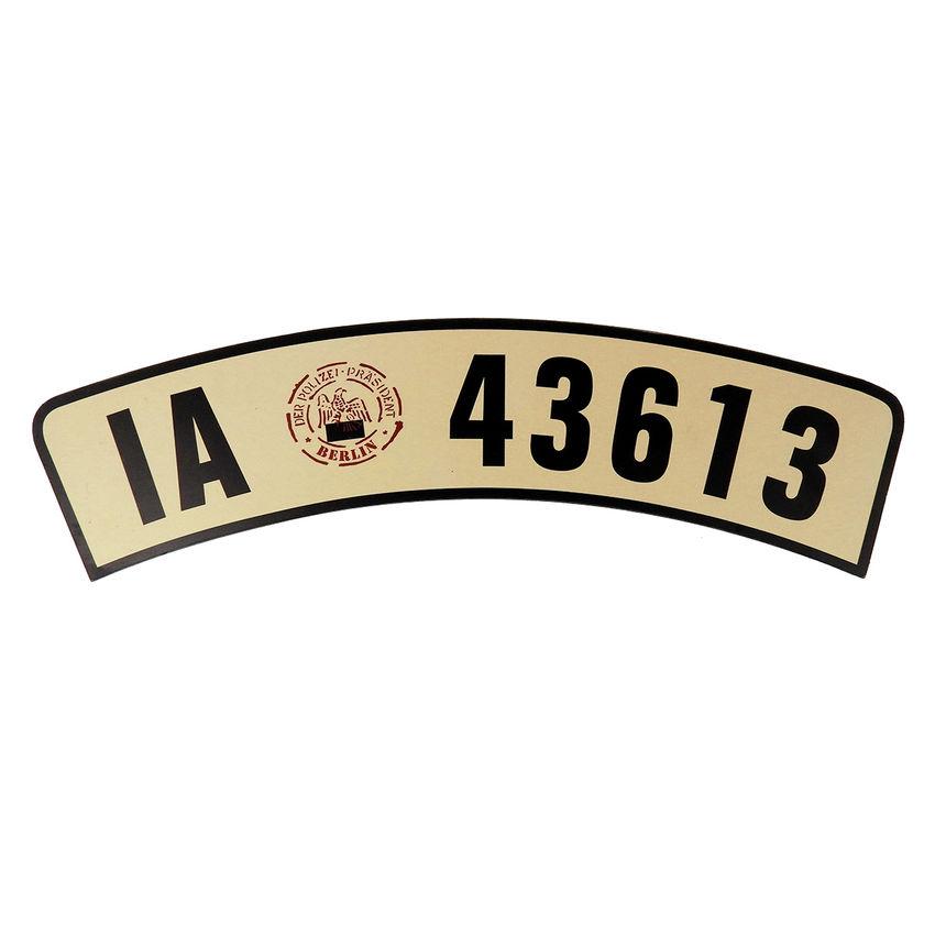 historisches motorrad kennzeichen gebogene form s6470 ebay. Black Bedroom Furniture Sets. Home Design Ideas