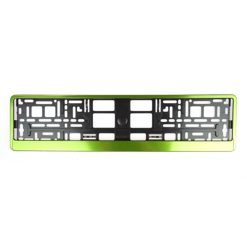 Kennzeichenhalter apfelgrün metallic 1 Stück bei SchilderShop