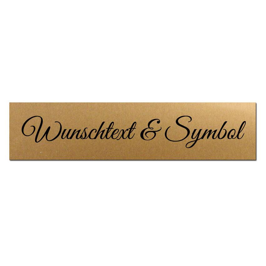 Kleines Namensschild mit Wunschtext und Symbol - Größe 150x35 m bei SchilderShop