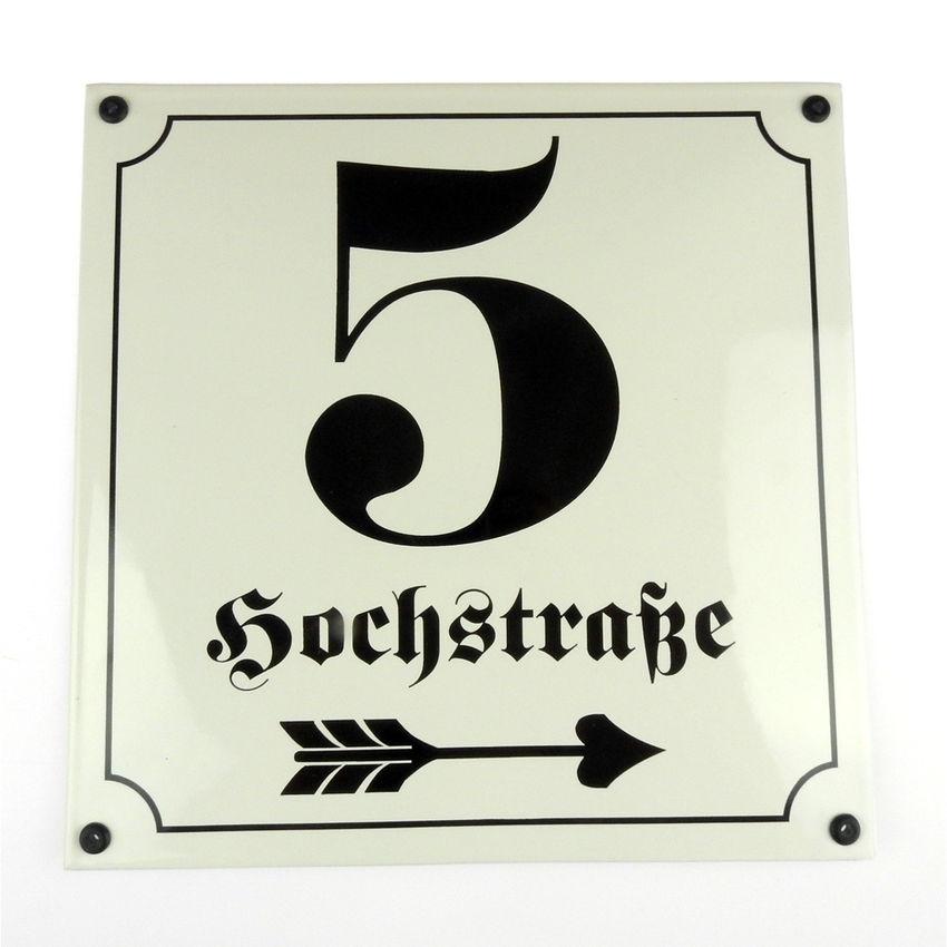 Sonderanfertigung Emaille Schild max. dreizeilig 25 x 25 cm