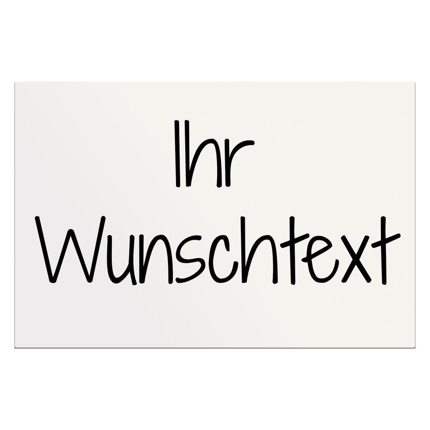 Dibondschild mit Wunschtext in vielen Farben 300 x 200 mm