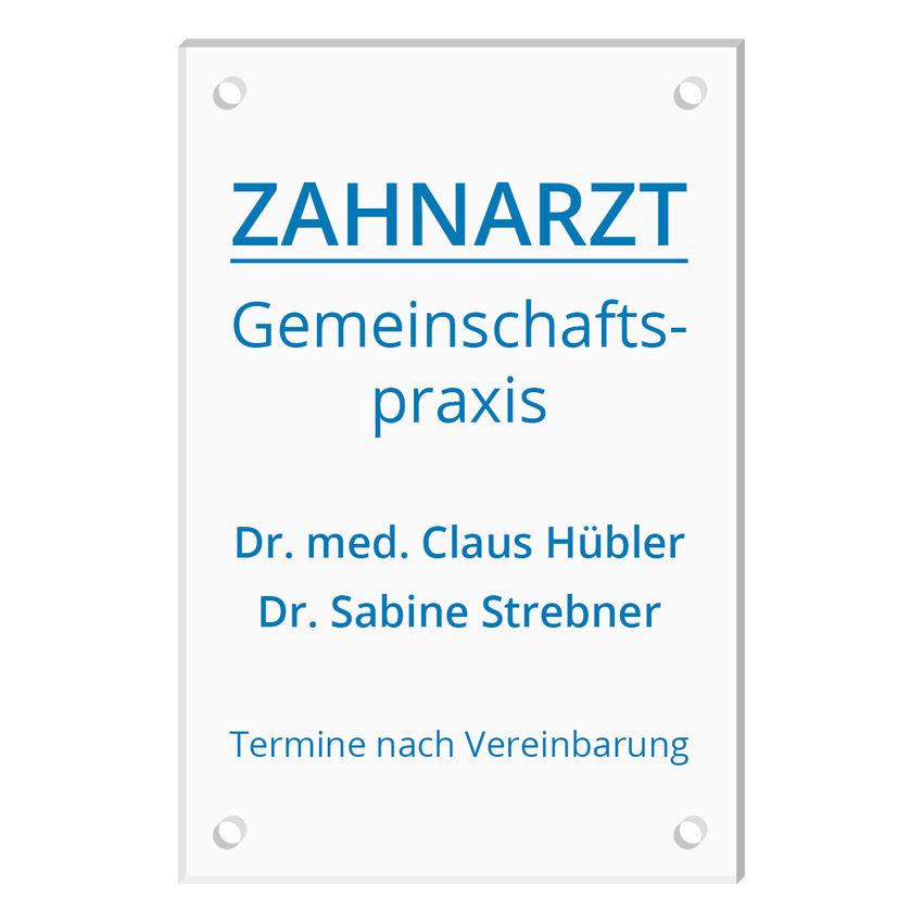 Schild aus Acrylglas mit Wunschtext - Größe 200 x 300 mm [mittel]