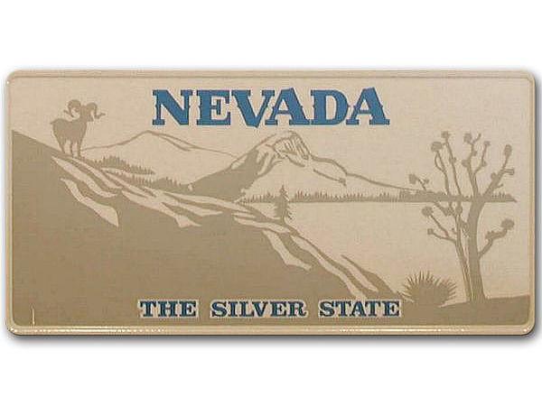 Nevada - Plate mit individuellem Wunschtext in Folienschrift