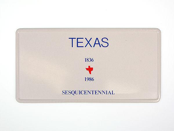 Texas Plate - mit Wunschtext in Folienschrift