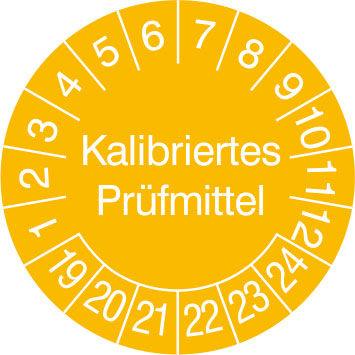 Prüfplakette - mit Jahresfarbe »Kalibriertes Prüfmittel «