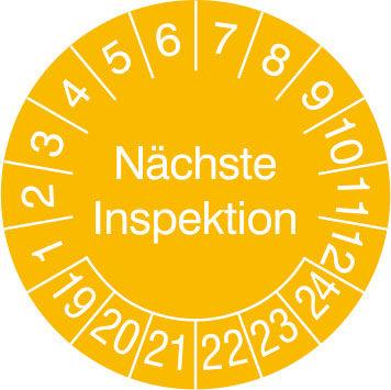 Prüfplakette - mit Jahresfarbe »Nächste Inspektion«