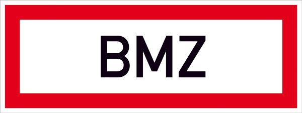 Hinweisschild für die Feuerwehr »BMZ«