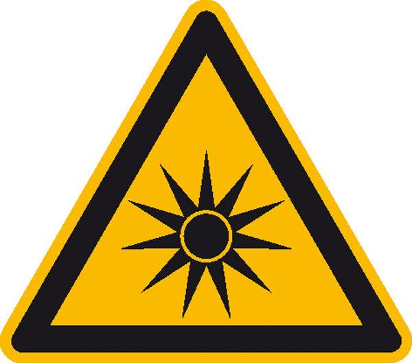 Warnschild »Warnung vor optischer Strahlung«