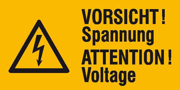 Warn-Kombischild »Vorsicht Spannung«