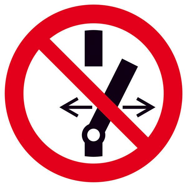 Verbotsschild »Schalten verboten«