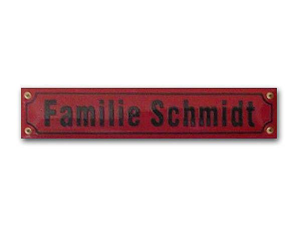 Emaille-Straßenschild Höhe 8 cm - max. 25 Zeichen
