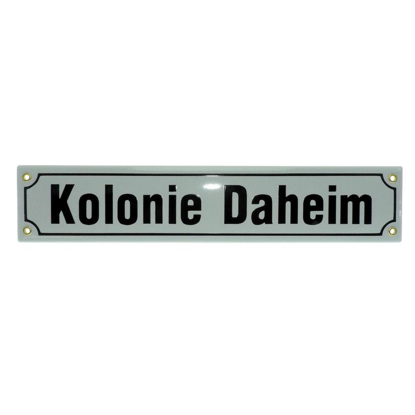 Emaille Straßenschild mit Ihrem Wunschtext Höhe 8 cm - max 16 Zeichen