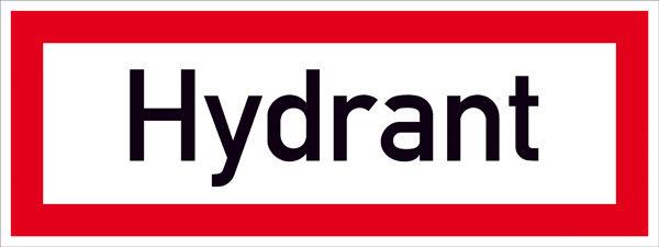 Hinweisschild für die Feuerwehr »Hydrant«