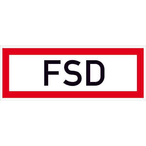 Hinweisschild für die Feuerwehr »FSD«