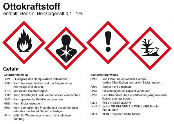 Gefahrstoffetikett »Ottokraftstoff«