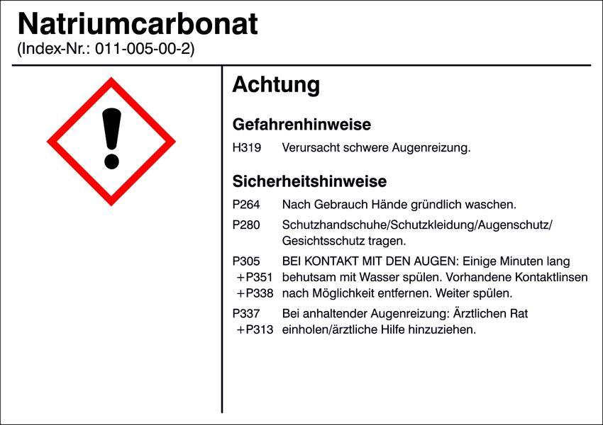 Gefahrstoffetikett »G014: Natriumcarbonat«