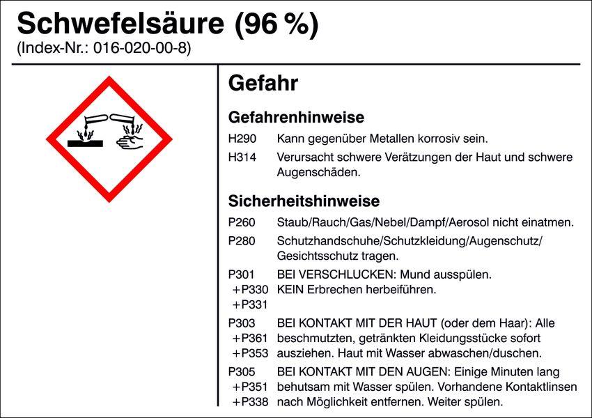 Gefahrstoffetikett »G019: Schwefelsäure (96%)«