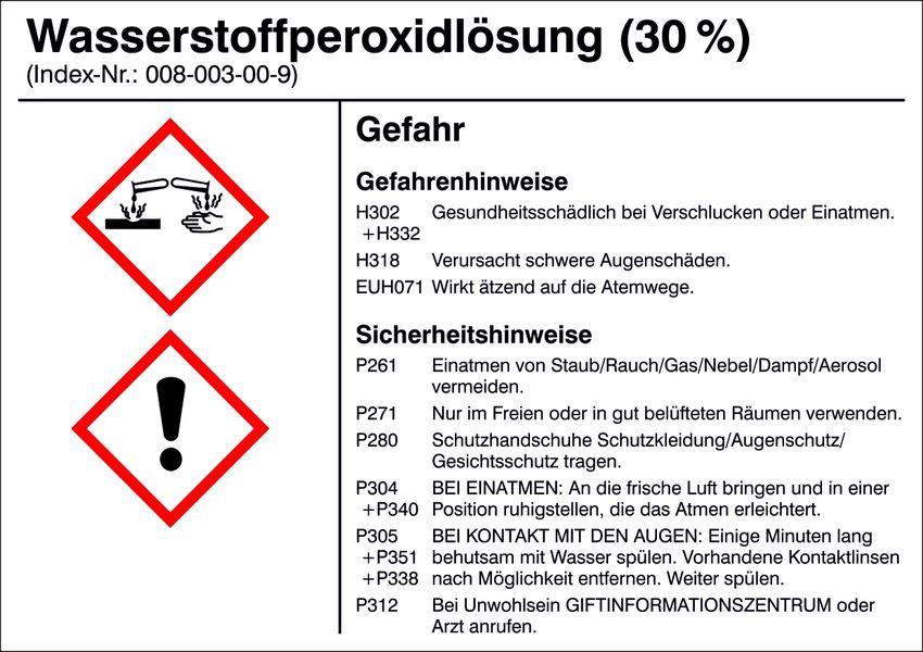 Gefahrstoffetikett »G021: Wasserstoffperoxidlösung (30%)«