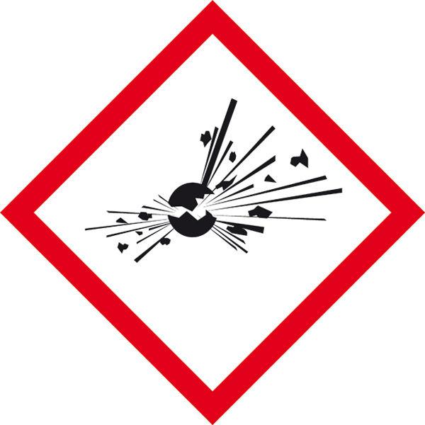GHS-Gefahrenpiktogramm »Symbol 01: explodierende Bombe«