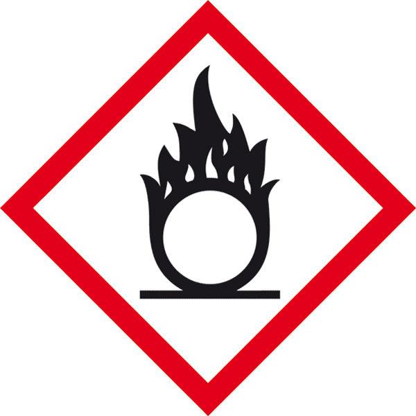 GHS-Gefahrenpiktogramm »Symbol 03: Flamme über Kreis«
