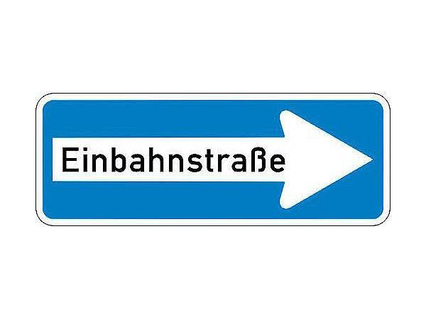 Verkehrszeichen einbahnstra e hausnummern und schilder for Gartendeko schilder