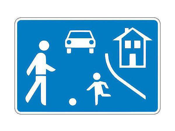 Verkehrszeichen stvo beginn einer verkehrsberuhigten for Gartendeko schilder