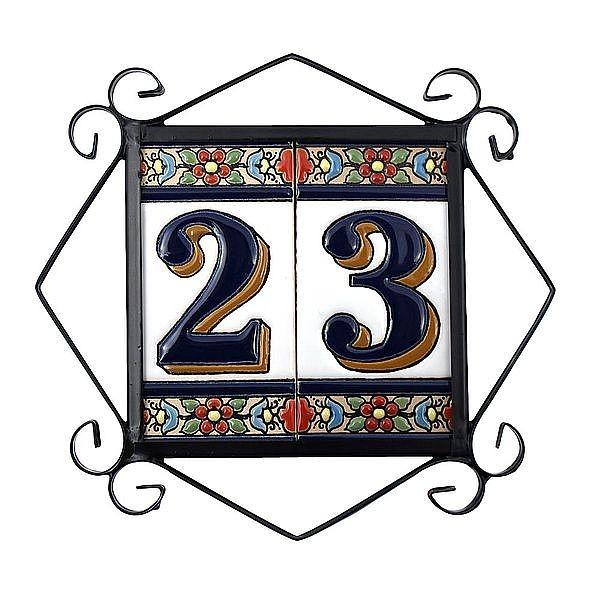 rahmen f r spanische fliesen hausnummern und buchstaben verschiedene gr en von 2 bis 9. Black Bedroom Furniture Sets. Home Design Ideas