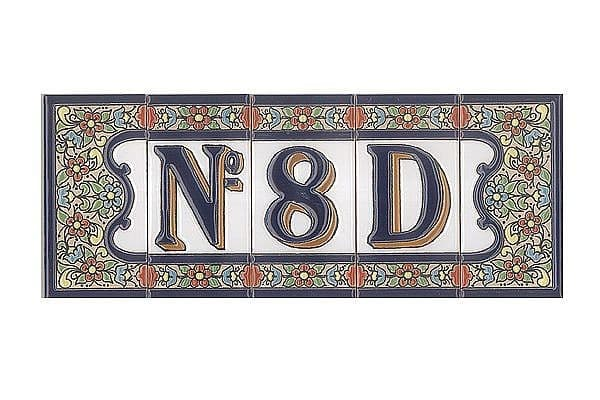 Spanische Hausnummer Aus Keramik Fliesen   Ziffer 4   Hausnummern Und  Schilder Online Kaufen