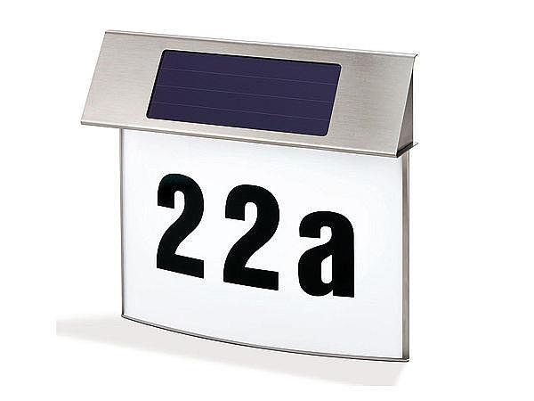 edelstahl design solar hausnummer vision f r ihre. Black Bedroom Furniture Sets. Home Design Ideas