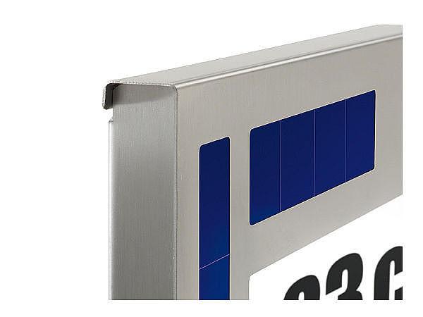 solar hausnummernleuchte design hausnummern und. Black Bedroom Furniture Sets. Home Design Ideas