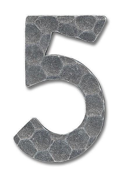 schmiedeeisen hausnummer ziffer 5 hausnummern und. Black Bedroom Furniture Sets. Home Design Ideas