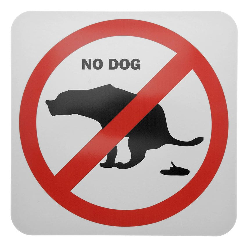 Verbotsschild hunde aus pvc hunde verboten no dog for Gartendeko schilder