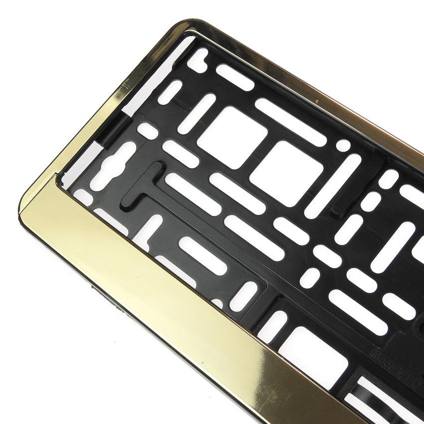 Wunderbar Gold Nummernschildrahmen Bilder - Benutzerdefinierte ...
