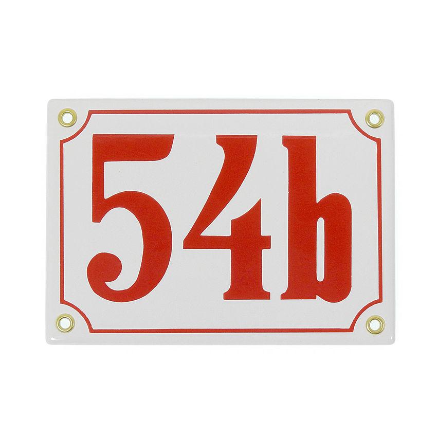 emaille hausnummer dreistellig verschiedene farben 17. Black Bedroom Furniture Sets. Home Design Ideas