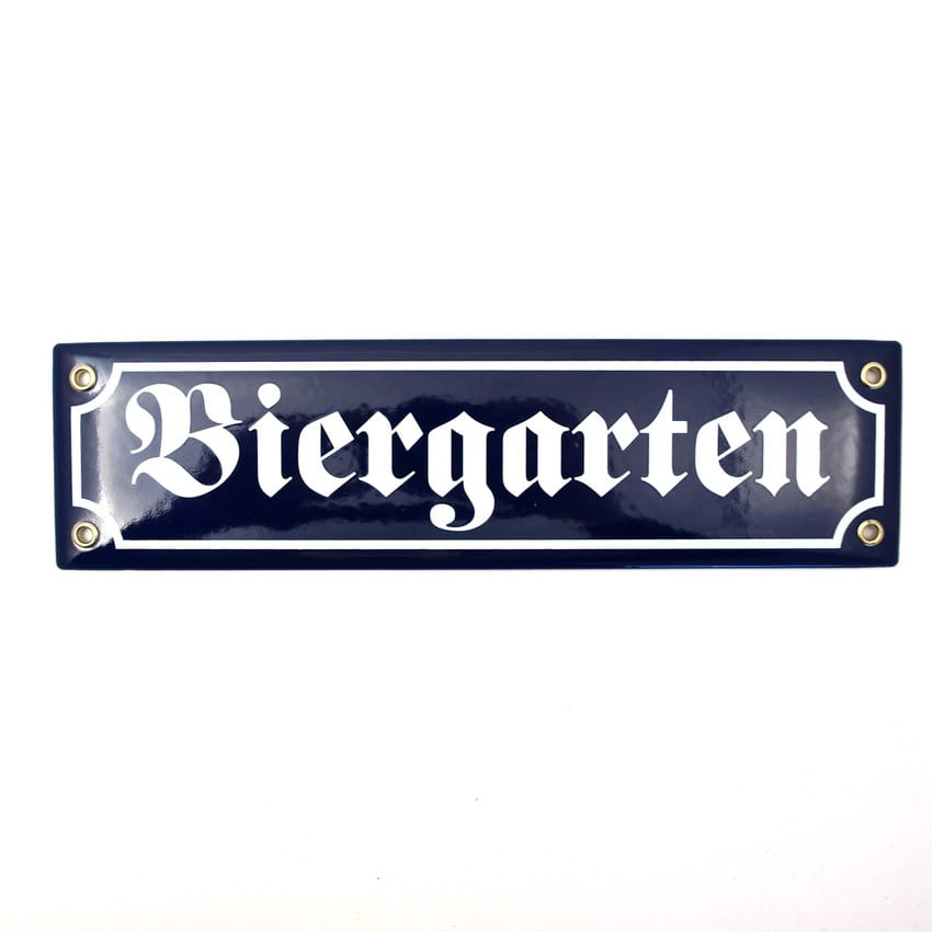 muender emailleschild biergarten 5332. Black Bedroom Furniture Sets. Home Design Ideas
