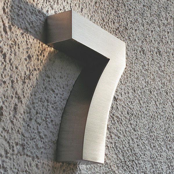 3D Hausnummer 7 aus Edelstahl - Höhe 160 mm Tiefe 30 mm ...